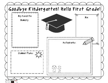 End of the School Year K-5 Memory Activity