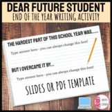 End of the School Year Letter Activity Dear Future Student