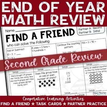 End of the School Year: Math Review of Grade 2 Concepts -