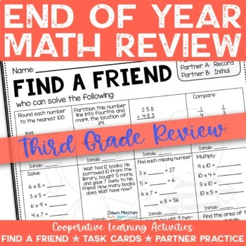 End of Year Activities - Math Review of Grade 3 Concepts