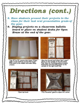 End of the School Year Memories Detective Theme Lap Book
