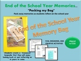 End of the Year Memory Bag/Book Activities