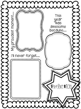 end of the school year memory book freebie tpt