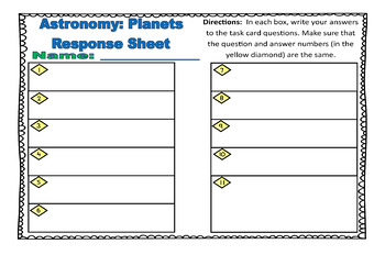 Astronomy Task Cards: Set 1: Planets