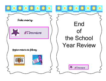 End of the School Year Review Packet
