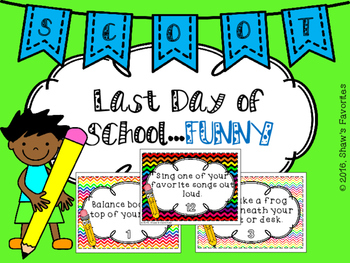 End of the School Year SCOOT {FUNNY}