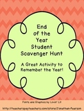 End of the School Year Scavenger Hunt - A Great Wrap Up to Your Year
