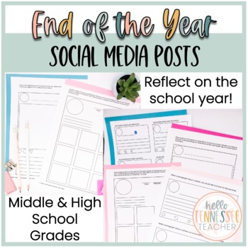 End of the School Year Social Media Posts