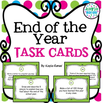 End of the School Year Task Cards
