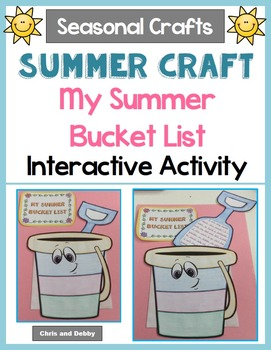 End of the School Year Writing Craft - Summer Bucket List