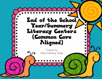 May/June Literacy Centers {Common Core Aligned for 2nd and 3rd Grade}