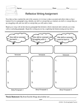 End of the Semester/Year/Unit Reflective Writing Assignment - Grades 6-10