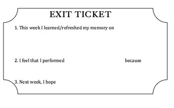 photo regarding Printable Exit Tickets titled Conclusion of the 7 days Exit Ticket Template