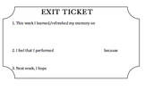 End of the Week Exit Ticket Template