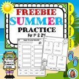 End of the YEAR Summer Packet From 1st grade to 2nd FREE Distance Learning
