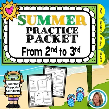 End of the Year Summer Packet for 2nd Grade to 3rd Grade