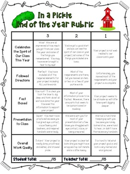 End of the Year Activities with Choice Boards, Game, Rubric, and Templates