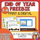 End of the Year Reflection Questions Print or TpT Easel Activity