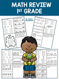 End of the Year 1st Grade Math Review   Beginning of 2nd Grade Math Pack