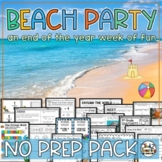 Summer Packet for 3rd & 4th - Beach Theme Math, ELA, Writi