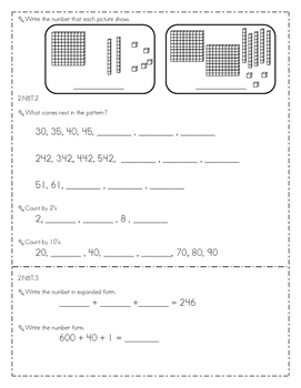End of the Year 2nd Grade Common Core Math Assessment