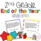 End of the Year 2nd Grade Letters from Teacher to Student