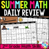 End of the Year 2nd Grade Math Review: Summer Problem of the Day