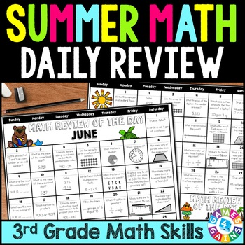 End of the Year 3rd Grade Math Review: Summer Problem of the Day