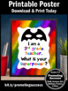 End of the Year 3rd Grade Teacher Appreciation Thank You Gift Superpower Sign