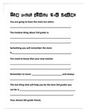 End of the Year 3rd grade Writing Activity