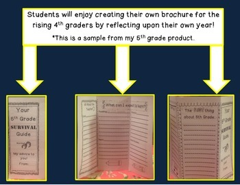 """End of the Year 4th Grade """"Survival"""" Brochure"""