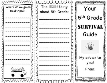 "End of the Year 5th Grade ""Survival"" Brochure"