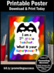End of the Year 5th Grade Teacher Appreciation Thank You Gift Superpower Sign