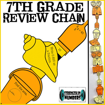 7th Grade Review Beach Paper Chain Equations Percents Proportions