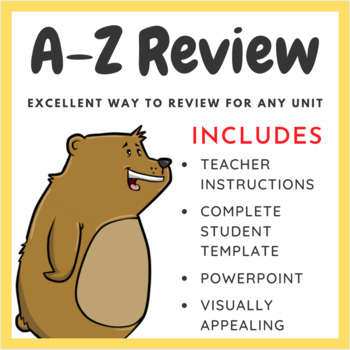 End of the Year A-Z Review - Includes Rubric
