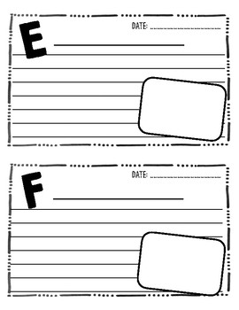 End of the Year A to Z Countdown Journal - Grades K-5!