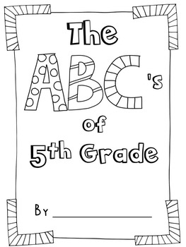 End of the Year ABC Book