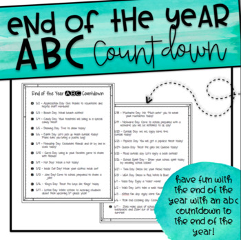 End of the Year ABC Countdown