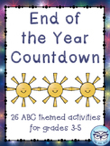 End of the Year ABC Countdown Activities