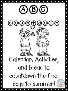 End of the Year ABC Countdown Activity Pack