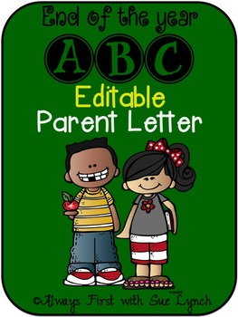 End of the Year ABC Countdown EDITABLE Parent Letter