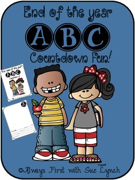 End of the Year ABC Countdown Posters & Individual or Class Books