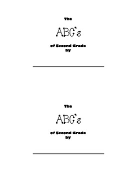 End of the Year ABC Memories Book