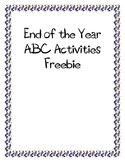 End of the Year ABCs