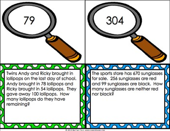 End of Year Math: 2nd Grade End of the Year Math Word Problems