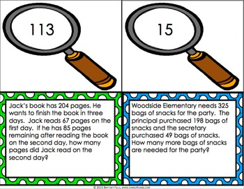 End of Year Math: 3rd Grade End of the Year Math Word Problems