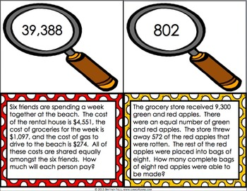 End of Year Math: 4th Grade End of the Year Math Word Problems