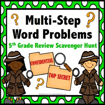 End of Year Math: 5th Grade End of the Year Math Word Problems