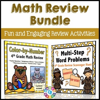 4th Grade End of Year Activities: End of Year Math Review Bundle
