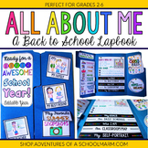 All About Me Lapbook - Back to School Lap Book Activity -